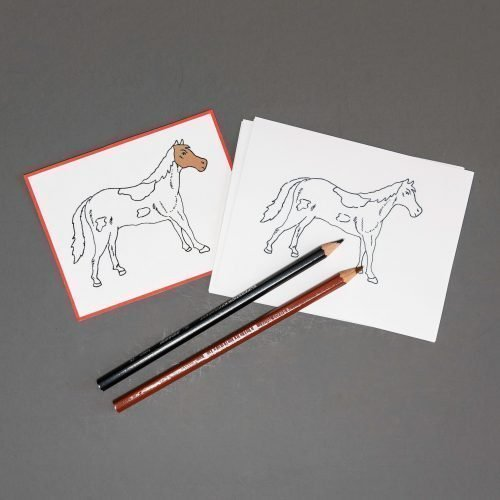 Chinese (Mandarin) Horse Coloring Paper