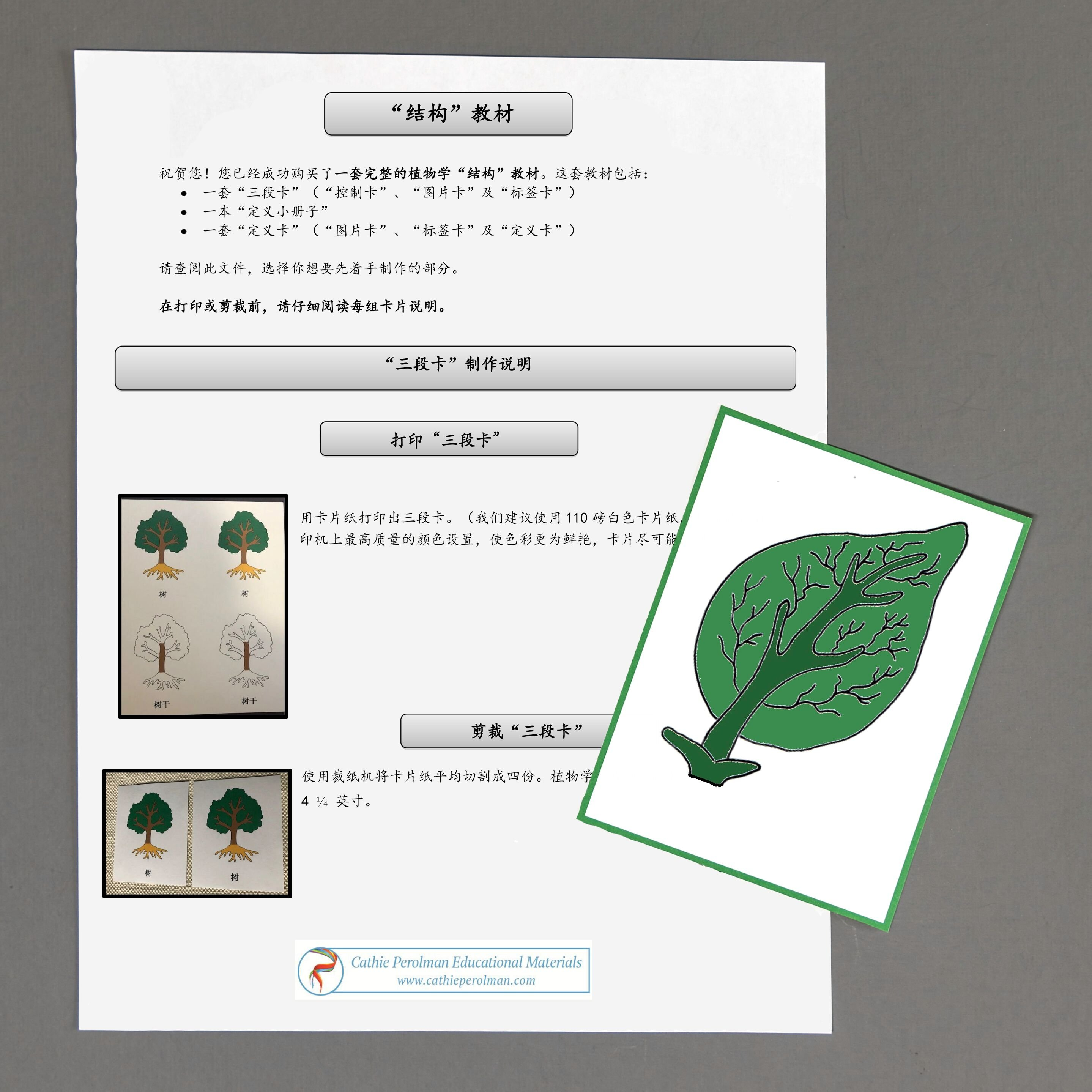 Chinese (Mandarin) Leaf Directions