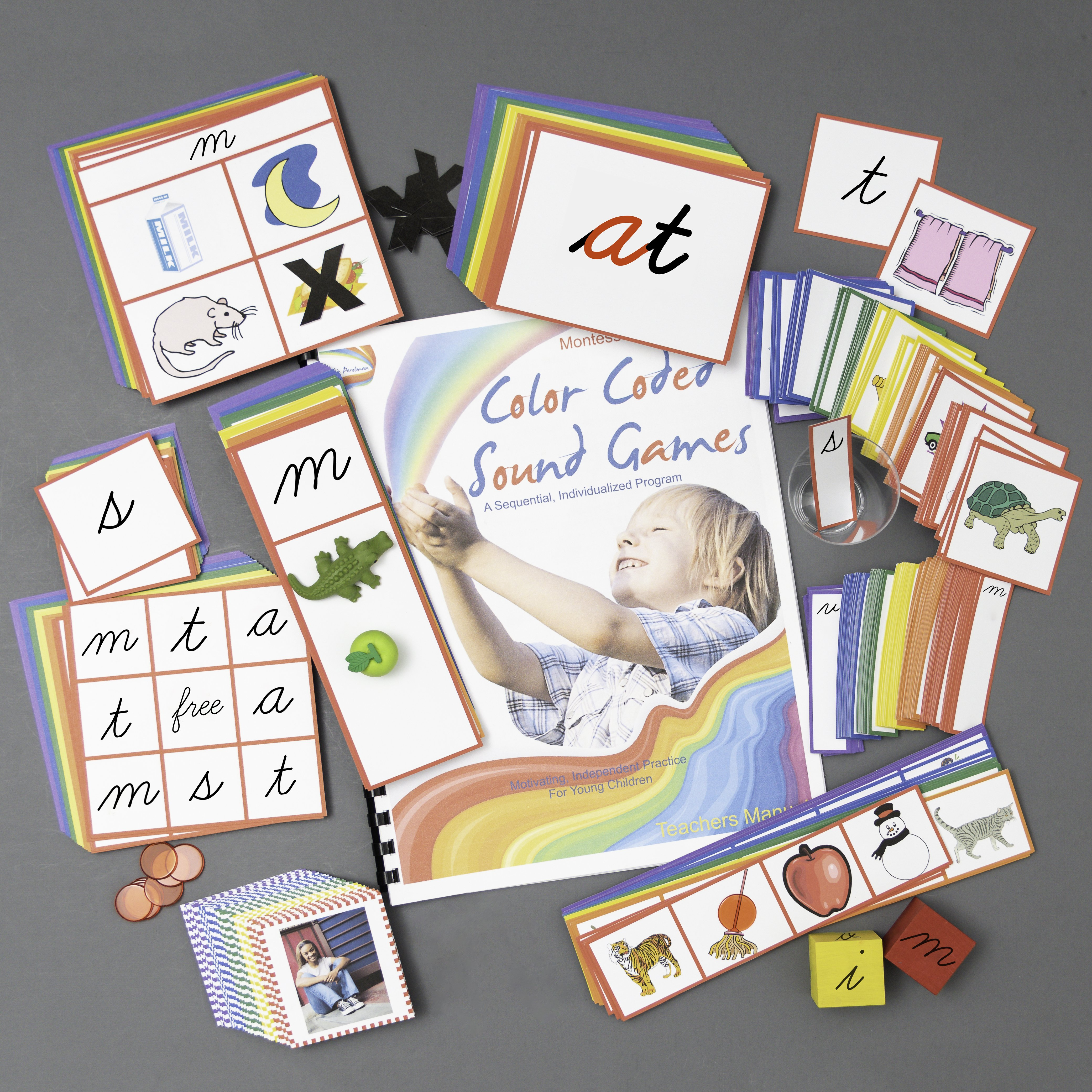 Color Coded Sounds Games - Complete Set in Cursive