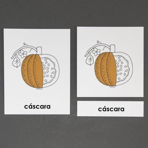 Spanish Pumpkin Three Part Cards
