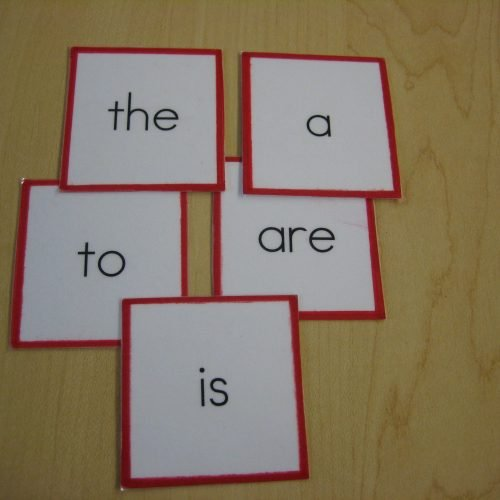Puzzle Words - Single Word Cards